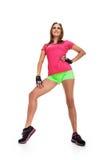 Aerobiceignungsfrau Stockbild