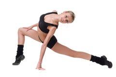 Aerobiceignungsfrau, die herein voll trainiert Lizenzfreie Stockbilder