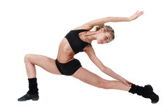 Aerobiceignungsfrauentrainieren lokalisiert im vollen Körper Lizenzfreie Stockbilder