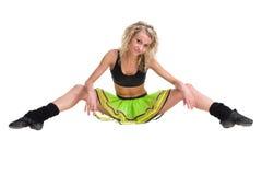 Aerobiceignungsfrauentrainieren lokalisiert im vollen Körper Stockfotografie
