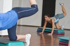 Aerobics action stock photo