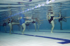 Aerobics class. Underwater picture of an aerobics class Stock Photography