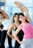 Aerobics class in a gym Royalty Free Stock Photo