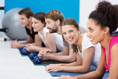 Aerobics class at the gym Stock Images