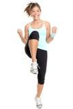Aerobics da mulher da aptidão Foto de Stock Royalty Free
