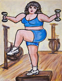 Aerobics di punto con i pesi Fotografia Stock Libera da Diritti
