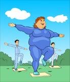 Aerobics die Dame opleiden Vector Illustratie