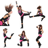 Aerobics e forma fisica Fotografia Stock