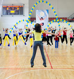 Aerobics and fitness Royalty Free Stock Photos