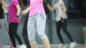 Aerobics fitness class stock footage