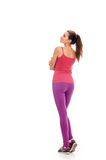 Aerobics fitness woman from back Royalty Free Stock Images
