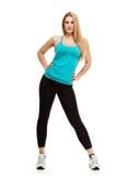 Aerobics fitness woman posing Royalty Free Stock Image