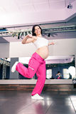 Aerobics girl Stock Images