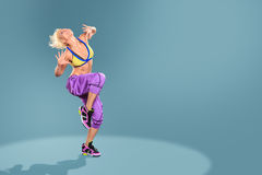 Aerobics girl Stock Images