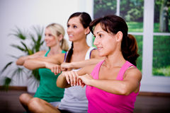 Aerobics girls Stock Photography