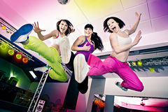 Aerobics girls Royalty Free Stock Image