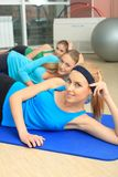 Aerobics group Royalty Free Stock Image