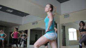 Aerobics group session stock video
