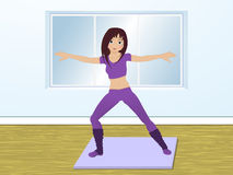 Aerobics in the gym Royalty Free Stock Photo