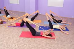 Aerobics HOT pilates group Royalty Free Stock Photos