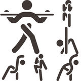 Aerobics icons set Stock Photo