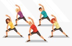 aerobics Ilustração do vetor ilustração stock