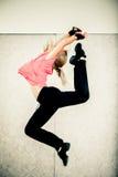 Aerobics jump Stock Photos
