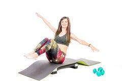 Aerobics on mat Stock Photo