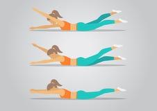 aerobics Moça bonita que faz exercícios aeróbios no gym ilustração royalty free
