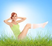Aerobics outdoors Stock Photos