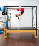 Aerobics pilates instructor woman in cadillac Stock Images