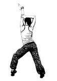 Aerobics pose. Illustration of aerobics pose on white vector illustration