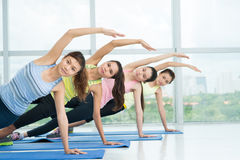 Aerobics practicing Stock Images