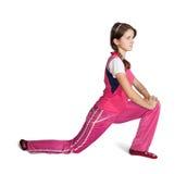 aerobics som gör den teen flickan arkivbild