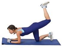 aerobics som gör flickan Arkivbild