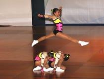 AEROBICS SPORT. Aerobics.sports dance.children athletes couple from Bulgaria Stock Photo