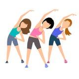 Aerobics. Train create a beautiful figure. Royalty Free Stock Images