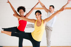 Aerobics training in gym Stock Images