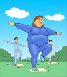 Aerobics Training Lady Stock Image