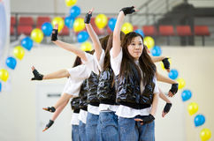 Aerobics und Eignung Lizenzfreies Stockbild