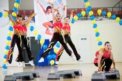 Aerobics und Eignung Stockfotografie
