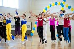 Aerobics und Eignung Stockfotos