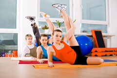 Aerobics women Royalty Free Stock Images