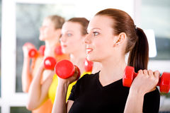 Aerobics women Royalty Free Stock Image