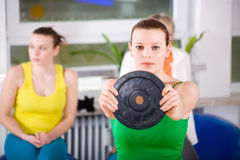 Aerobics women Royalty Free Stock Photos