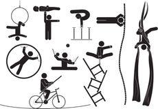 Aerobicssymbolsuppsättning Arkivfoto