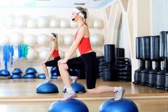 aerobika krok Zdjęcie Royalty Free