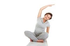 aerobiki ćwiczyć kobieta w ciąży obraz stock