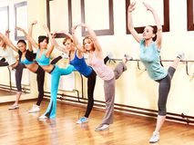 aerobiki grupują kobiety Obrazy Royalty Free