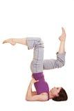 aerobiki robią elastycznej kobiety obraz royalty free